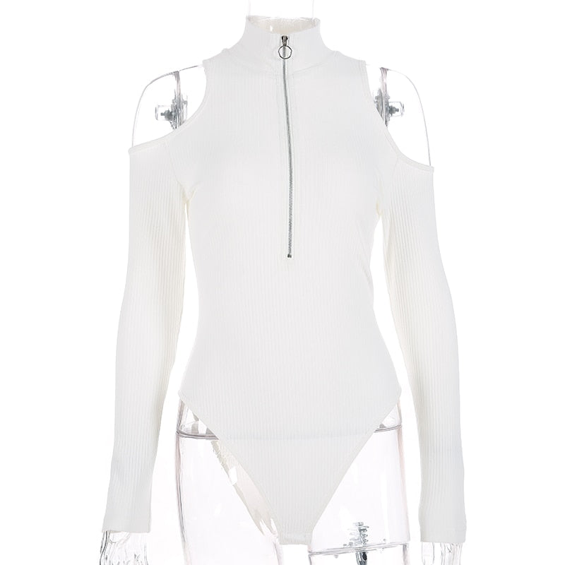 Megan Highneck Zip Bodysuit - 2 colors