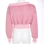 Velvet Off Shoulder Pink Jumper