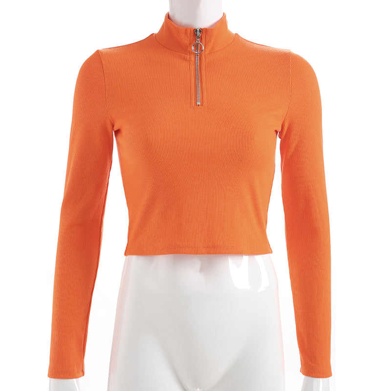 Pam Zip Orange Top