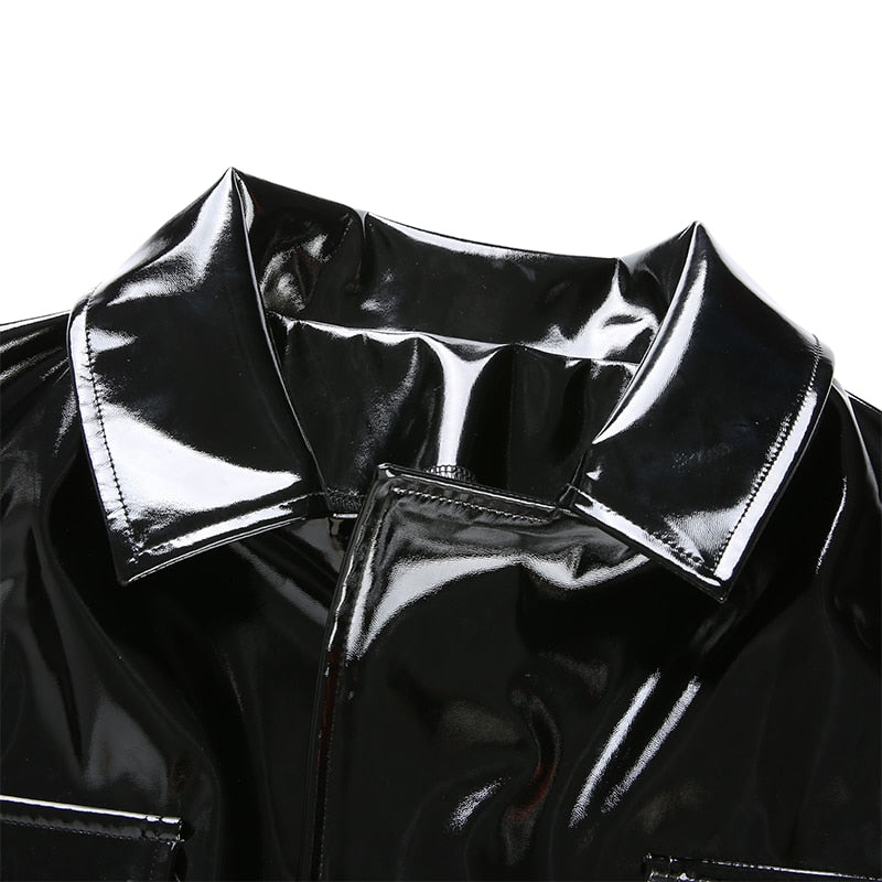 Kimmy PU Leather Black Jacket