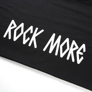 Rock More Cropped Cutout Black Hoodie