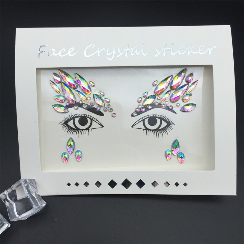 Face Rhinestones Stickers