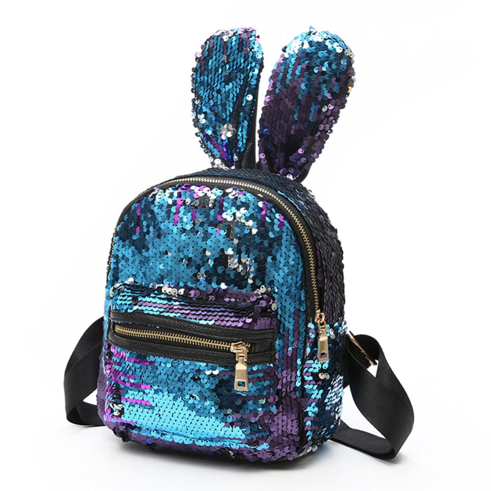 Mini Sequins Bunny Backpack