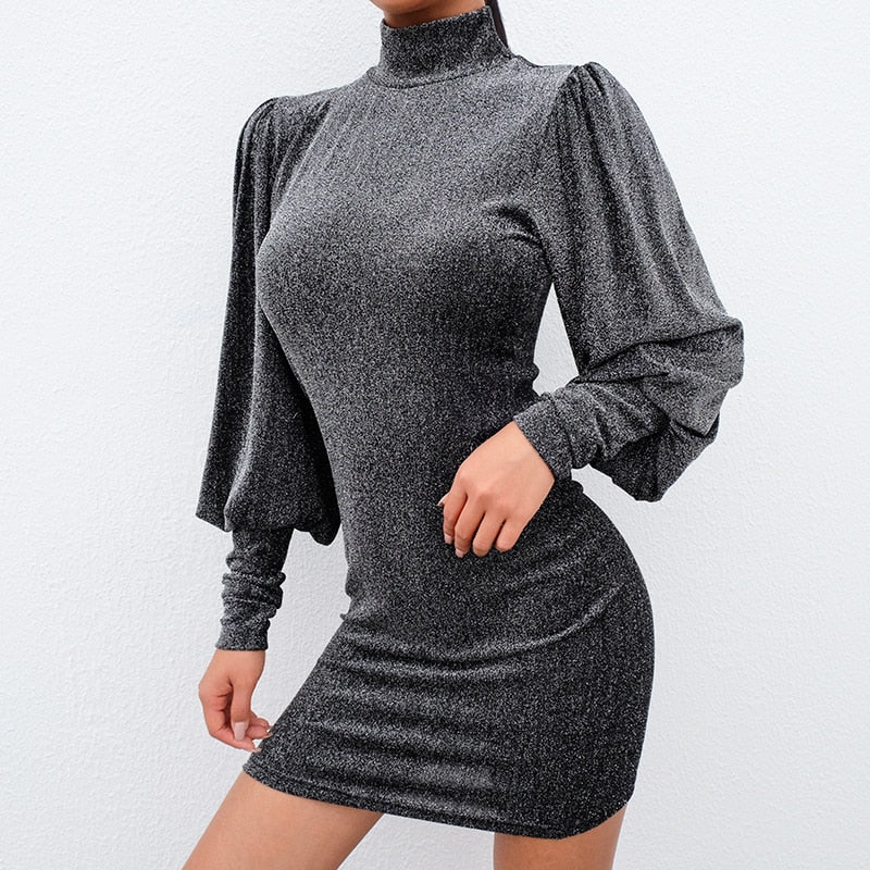 Ariana Long Sleeve Sparkly Dress