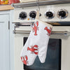 Lobster print oven glove - by the oven in the kitchen