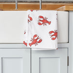 Lobster Tea Towel on kitchen sink