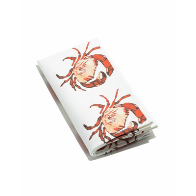 Crab print Napkin with  white back round