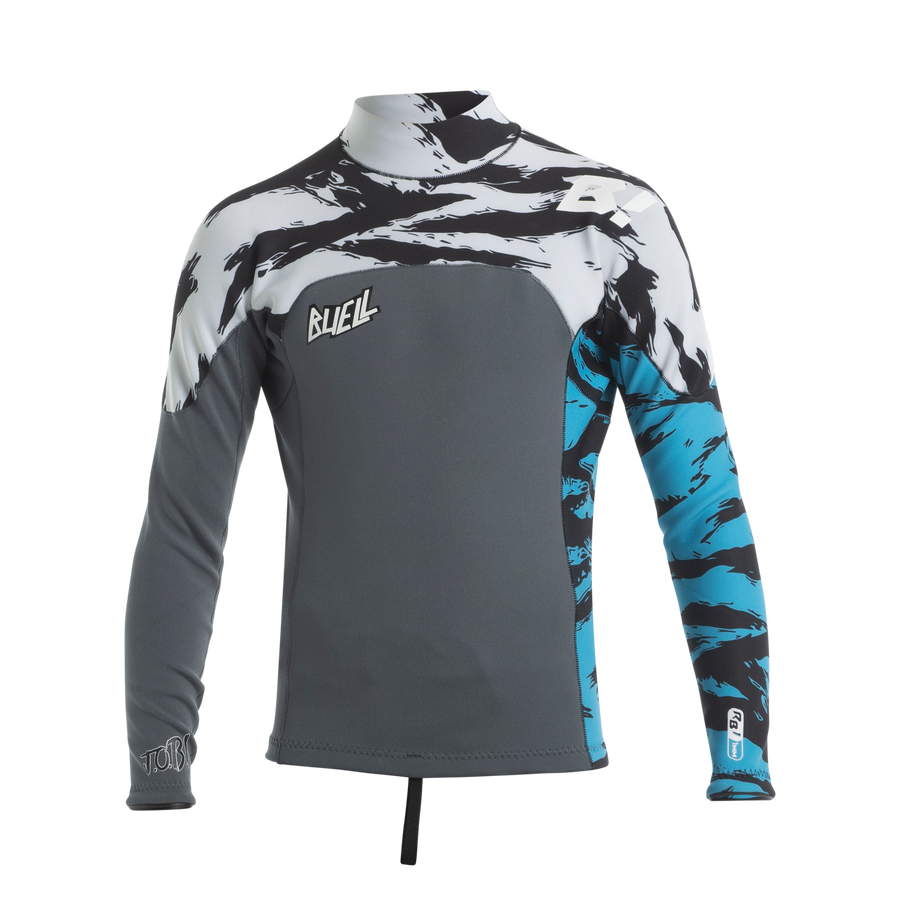 RB1 1MM L/S Jacket Juniors'- JOB Tiger Graphite/White