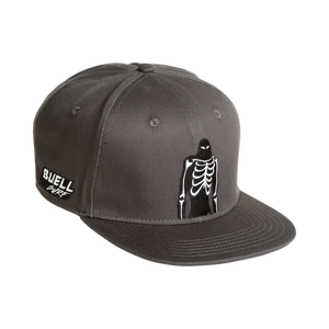 Buell Rubber Bones Man Snapback Hat- Dark Grey