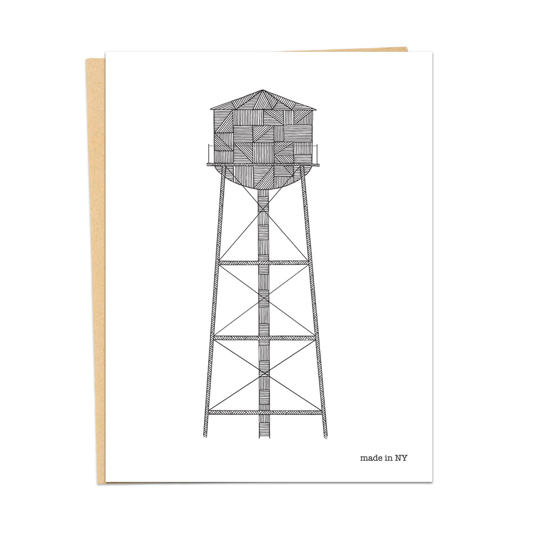 Water Tower A2 Card | Water towers made in NYC | Greenpoint | Brooklyn - Cuestiondegustos
