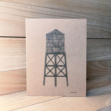 Water Tower A2 kraft card E | Made in NY - Cuestiondegustos