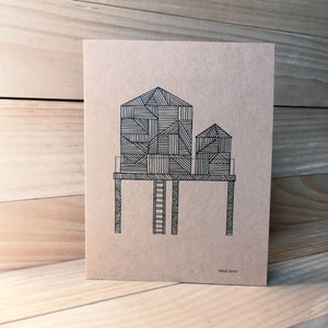 Water Tower A2 kraft card F | Made in NY - Cuestiondegustos