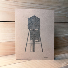 Water Tower A2 kraft card G | Made in NY - Cuestiondegustos