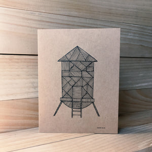 Water Tower A2 kraft card H | Made in NY - Cuestiondegustos