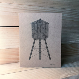 Water Tower A2 kraft card L | Made in NY - Cuestiondegustos