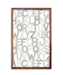 Poster 11x17 | Alphabet made in NY | - Cuestiondegustos