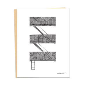 Fire Escape Card | Made in NY | - Cuestiondegustos
