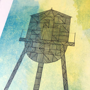 Water Tower Color Print | 8x10 in | Made in NY | 2 of 4 - Cuestiondegustos