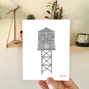 Water Tower A2 Card K | NY Skyline | Made in NY - Cuestiondegustos
