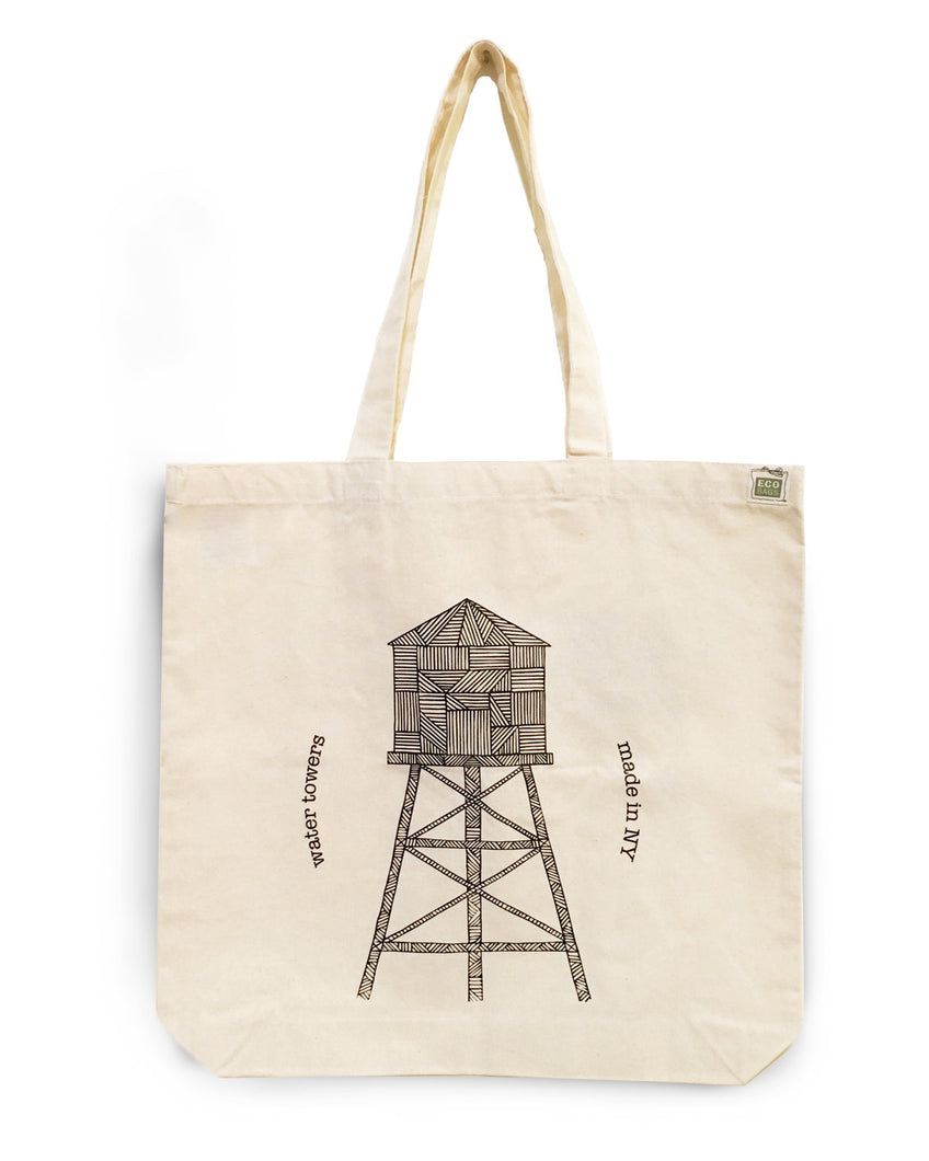 Eco-friendly canvas tote bag Water Tower - Cuestiondegustos