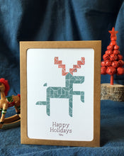 Green Deer Card | Happy Holiday Cards | Christmas Cards - Cuestiondegustos