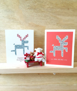 Red Deer card | Happy Holiday Cards | Christmas Cards | - Cuestiondegustos
