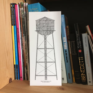 Water Tower Print in Brooklyn | Water Towers made in NY | Greenpoint - Cuestiondegustos