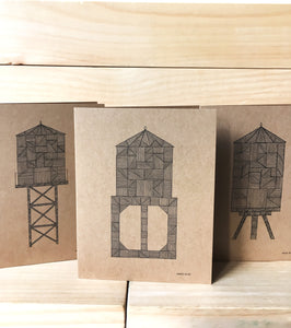 Water Tower A2 kraft card J | Made in NY - Cuestiondegustos