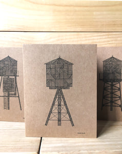 Water Tower A2 kraft card C | Made in NY - Cuestiondegustos