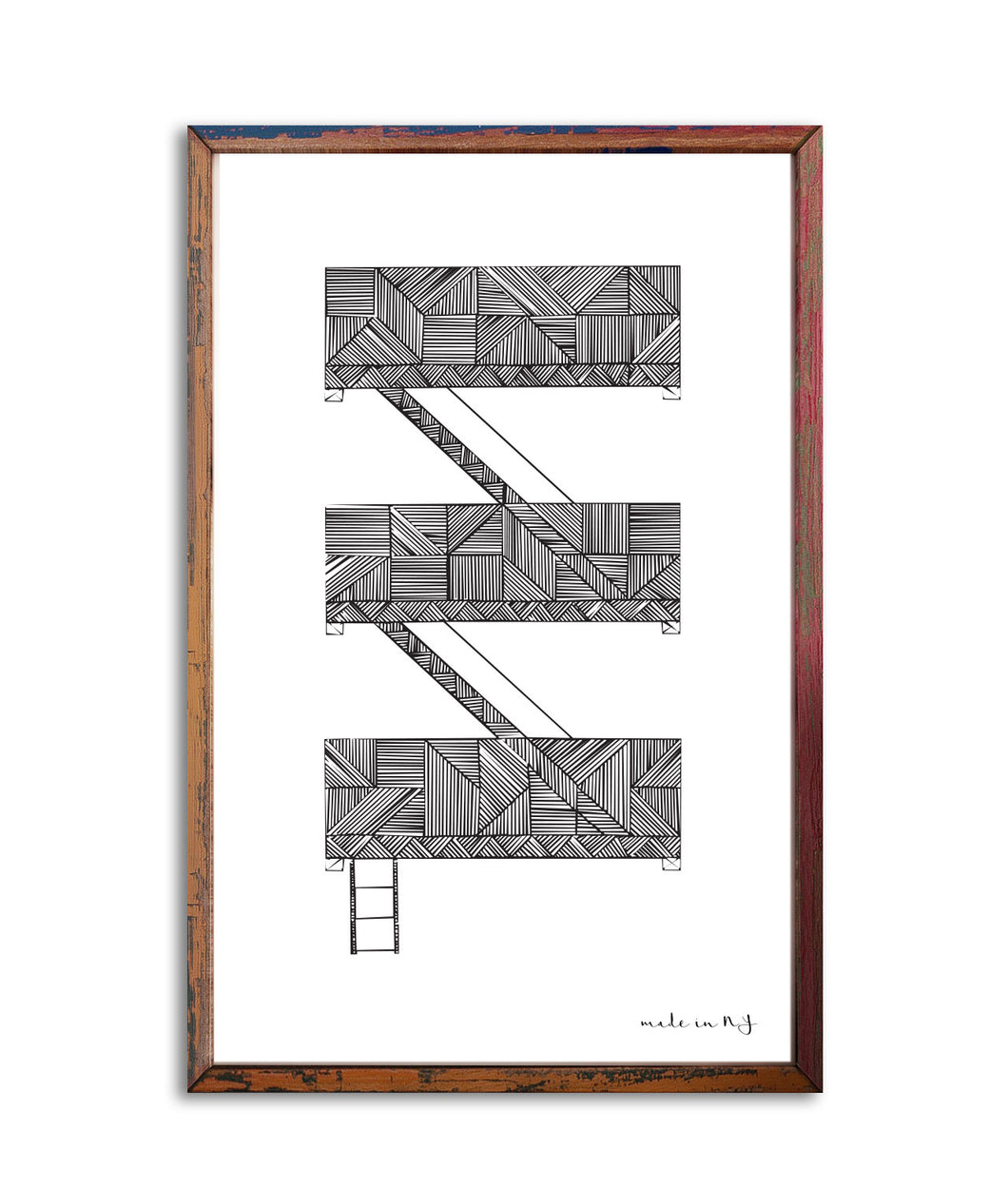 Fire Escape NYC | Art Print 11x17