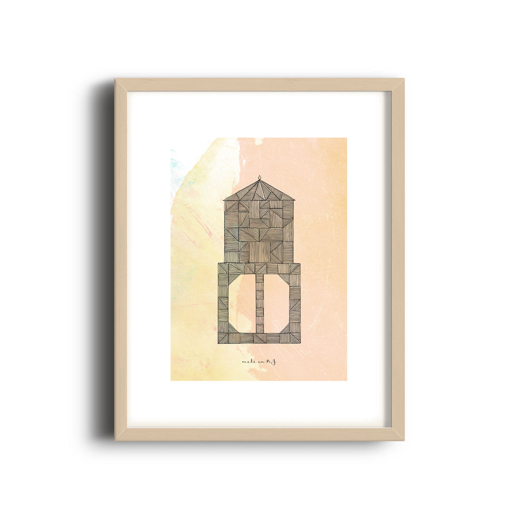 Water Tower Color Print | 8x10 in | Made in NY | 3 of 4 - Cuestiondegustos