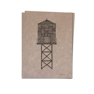 Water Tower A2 kraft card K | Made in NY - Cuestiondegustos
