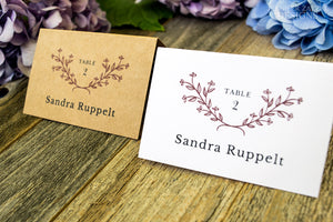 Printed Escort Cards | Folded or Flat Placecards