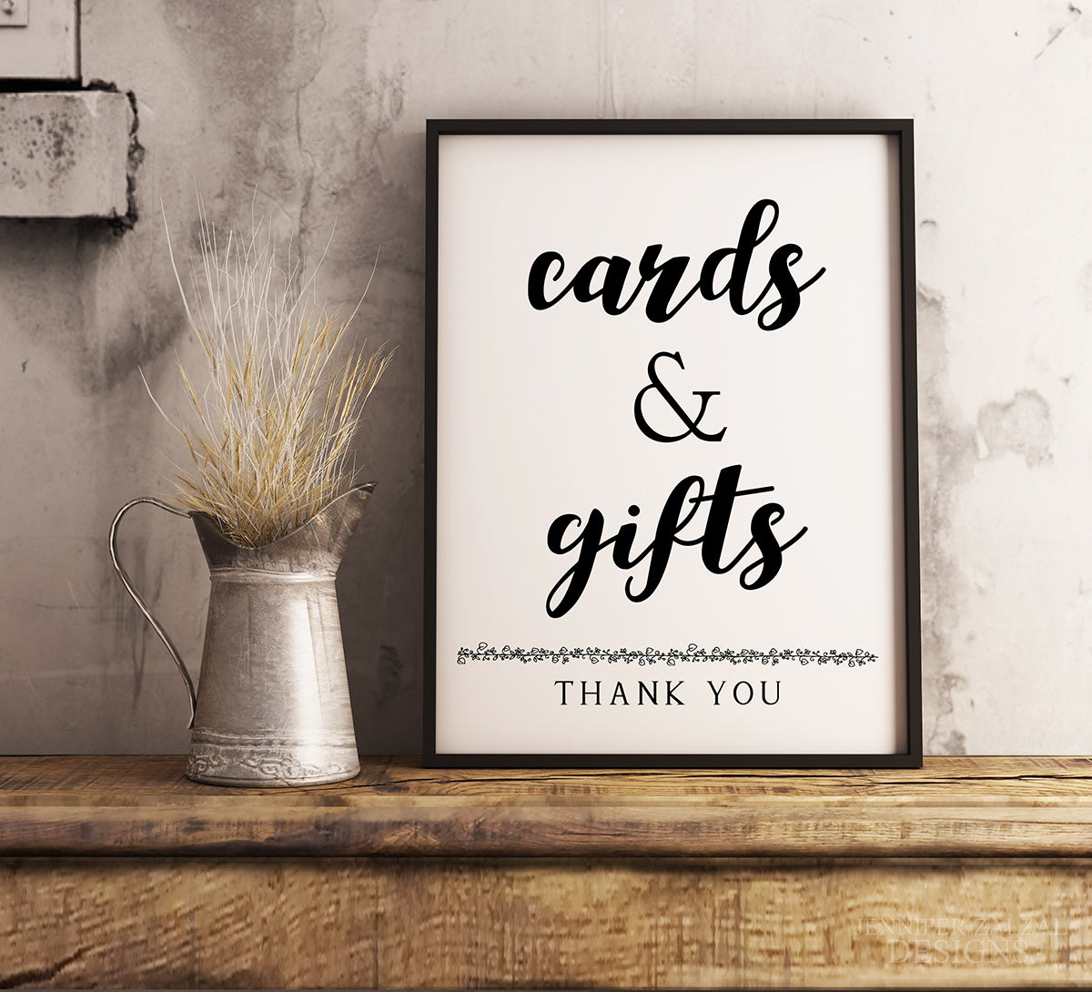 Cards & Gifts Wedding Sign | Digital Template