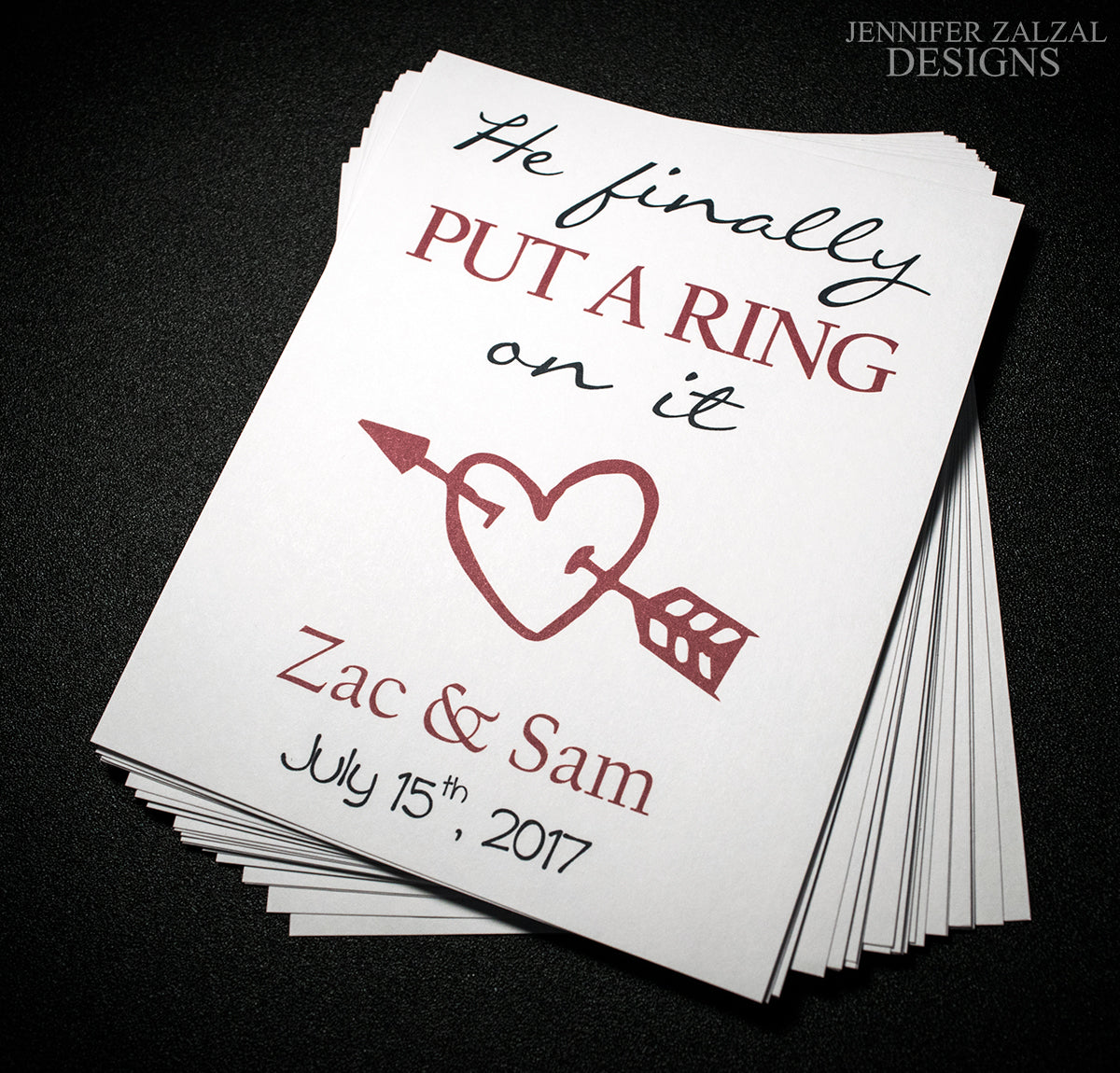 Put a Ring on It Wedding Wine Bottle Labels | Personalized & Printed - DesignsbyZal