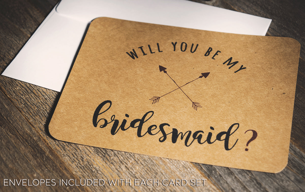 Rustic Wedding Party Proposal Card | Personalized Wedding Cards