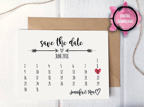 Save The Date Card Templates - Rustic save the date templates