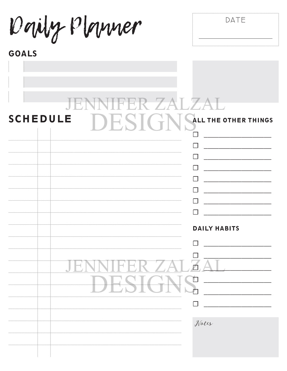 The Daily Planner Insert