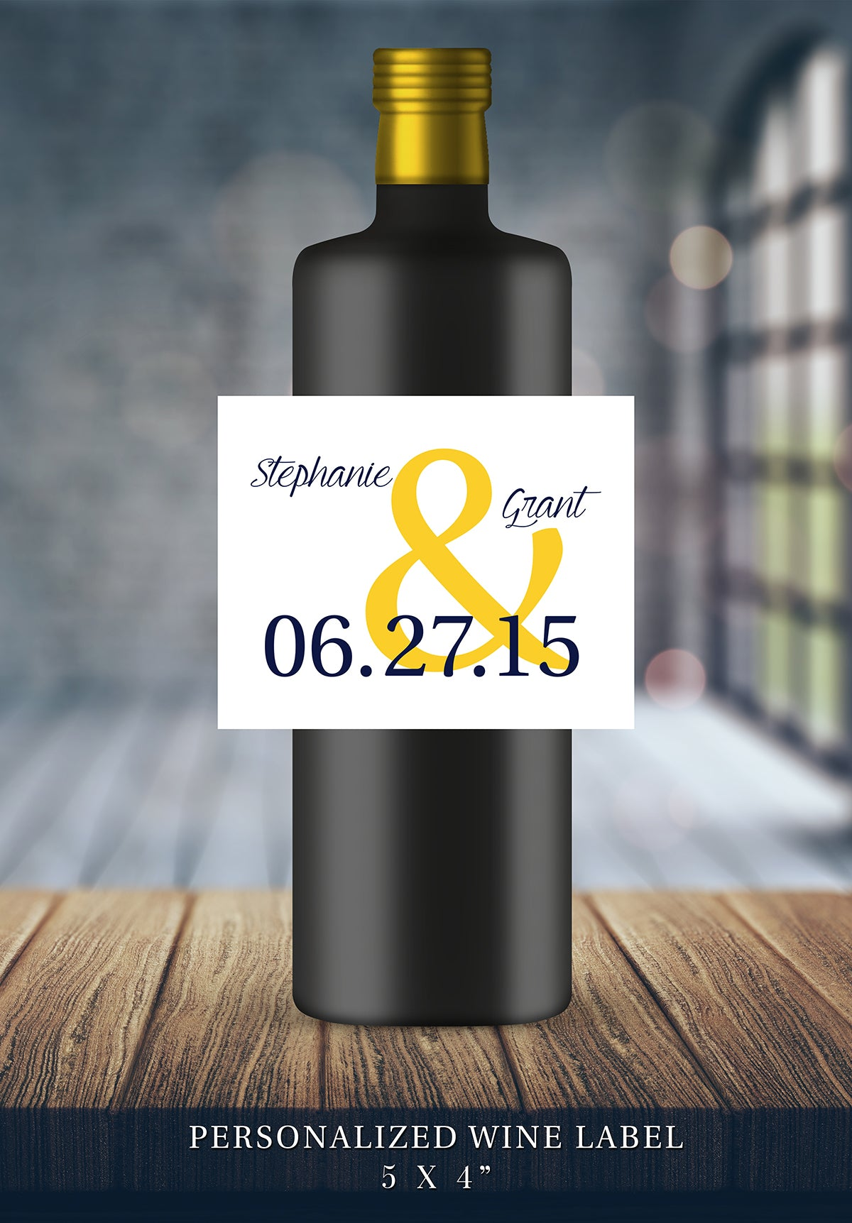 Couple Name Wedding Wine Bottle Labels | Personalized & Printed - DesignsbyZal