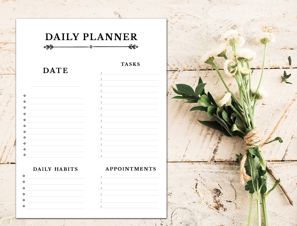 Daily Planner Agenda Printable Template