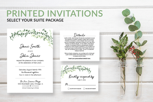 Eucalyptus Greenery Wedding Invitations