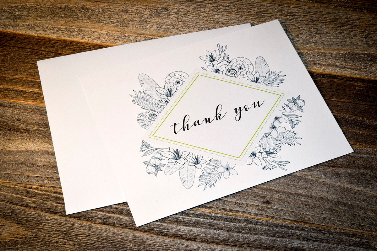 Thank You Notecard Set. Rustic Thank You Notecards. Greenery Thank You Notecard Set. Wedding Notecard. Rustic Note Cards. Personal Notecard. - DesignsbyZal
