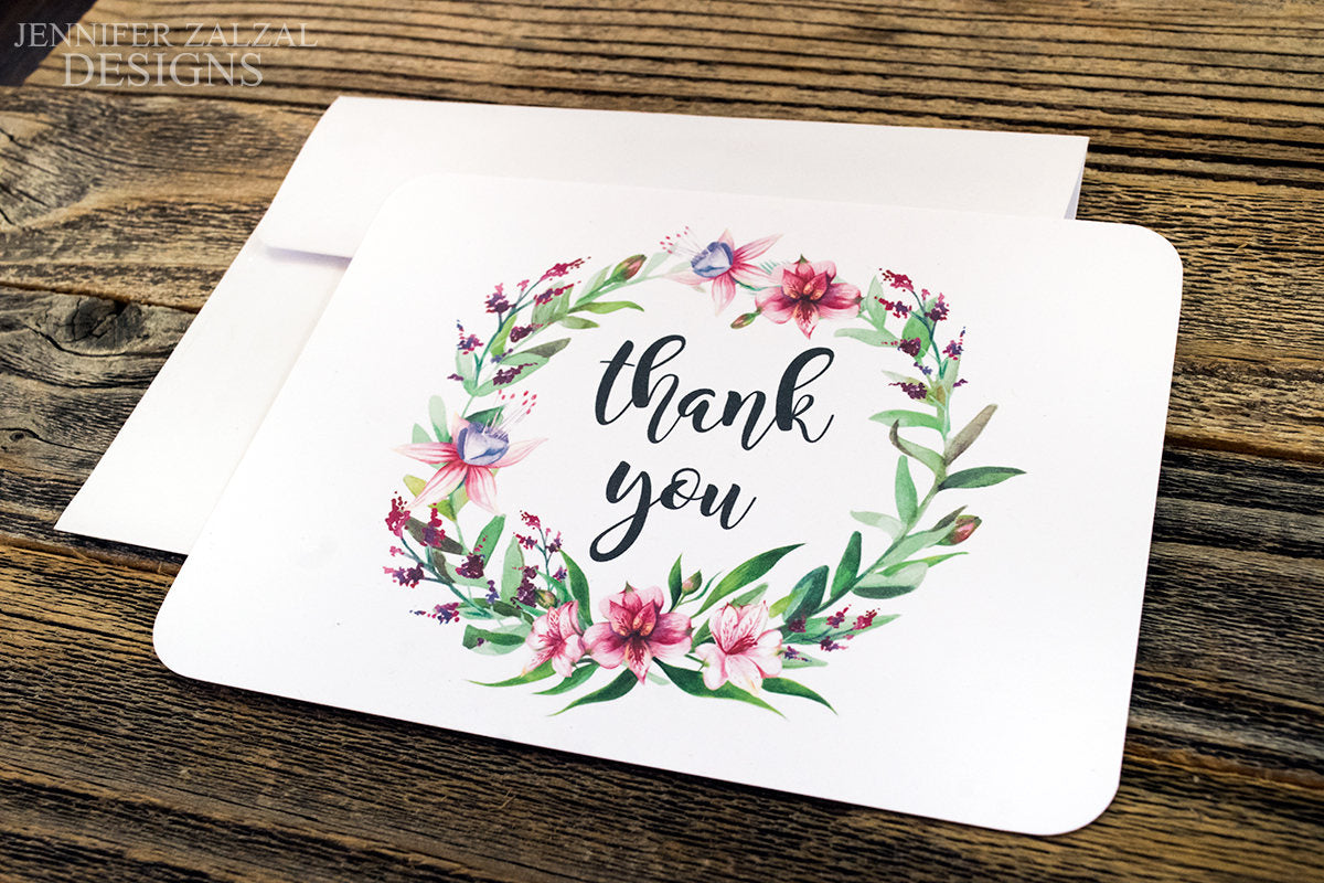 Floral Notecard Set. Rustic Thank You Notecards. Greenery Thank You Notecard Set. Wedding Notecard. Rustic Note Cards. Personal Notecard. - DesignsbyZal