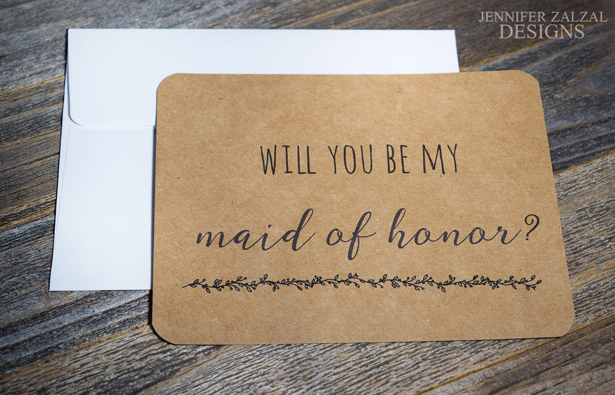 Simple Bridal Party Proposal Card | Personalized Wedding Cards - DesignsbyZal