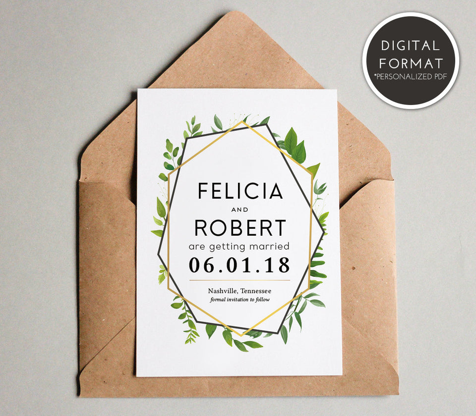 Save the Date Card Templates for Weddings | PDF File