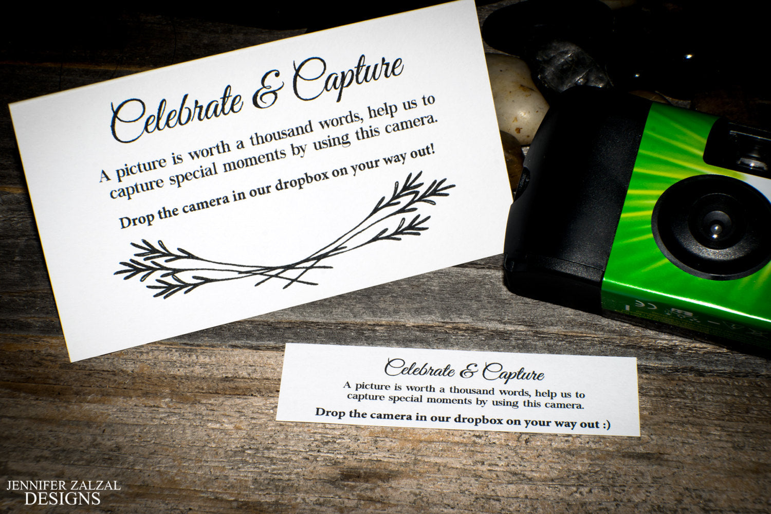 Disposable Camera Placecards | Set of Wedding Placecards for Disposable Cameras - DesignsbyZal