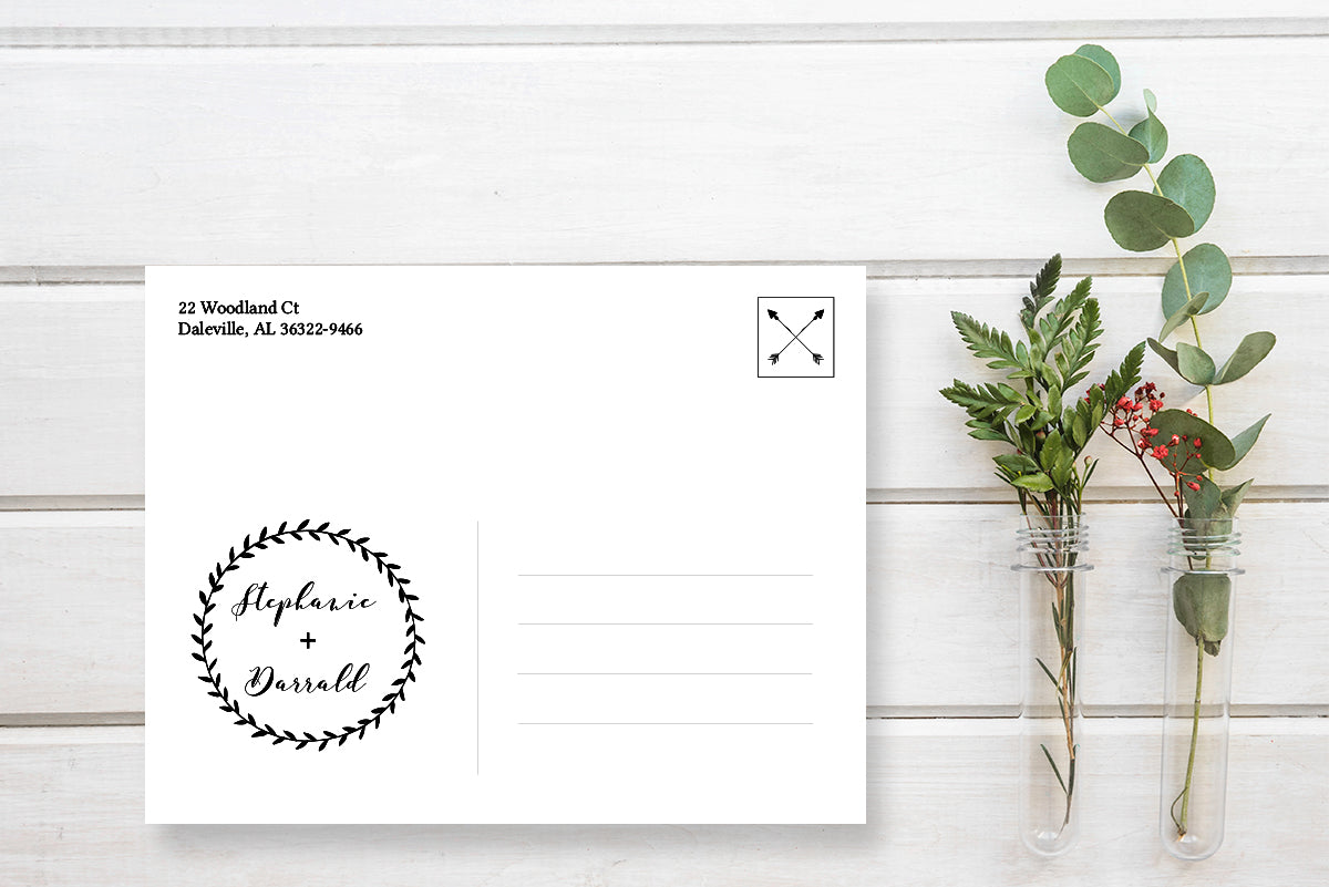 Rustic Save the Date Calendar Postcard Announcement