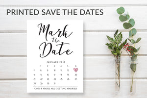 Mark the Date Wedding Calendar Date Cards - DesignsbyZal