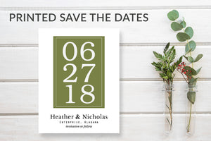 Modern Save the Date Wedding Announcement Cards - DesignsbyZal