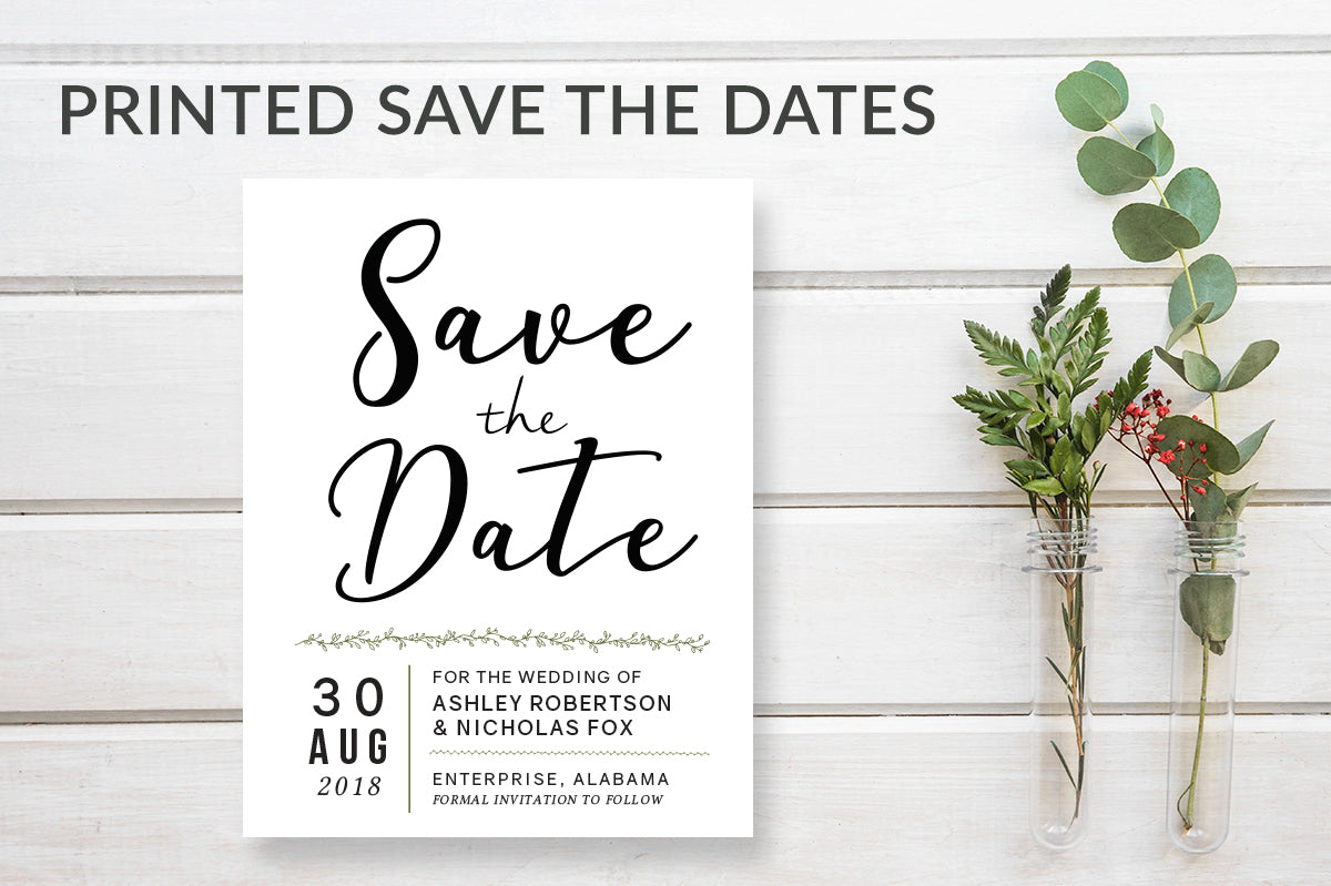 Simple Modern Save the Date Calendar Cards - DesignsbyZal